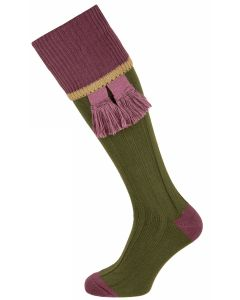 The Cobnash 'Moss & Raisin' Cotton Shooting Sock