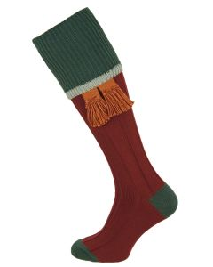 The Cobnash 'Port & Petrol' Cotton Shooting Sock