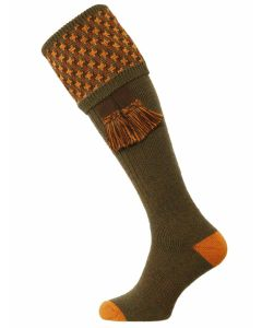 The Cromarty Cushion Foot Shooting Sock - Bracken