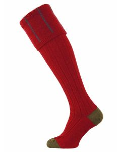The Devonshire Wool Shooting Sock - Cassis