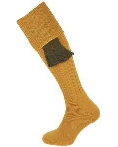 The Dinmore Gold Cushion Foot Shooting Sock