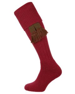 The Dinmore 'Cherry' Wool Cushion Foot Shooting Sock