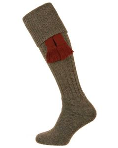 The Dinmore Derby Tweed Wool Cushion Foot Shooting Sock
