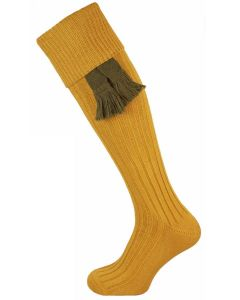 The Dodmarsh 'Autumn Stubble' Cotton Shooting Sock