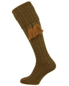 The Harris Cable 'Bracken' Merino Blend Shooting Sock