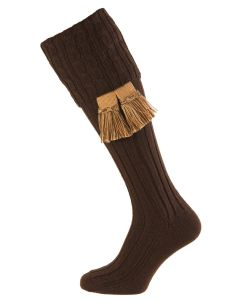 Dark Natural Harris Cable Shooting Sock
