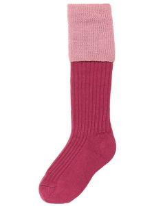 The Junior Lomond Childrens Shooting Sock - Dusky Pink & Rose