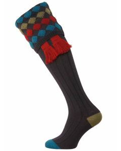 The Kendal Merino Wool Shooting Sock - Mid Navy