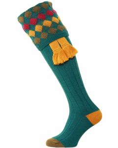 The Kendal Merino Wool Shooting Sock - Turquoise