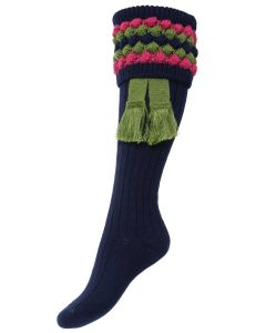 The Lady Angus Shooting Sock - Navy
