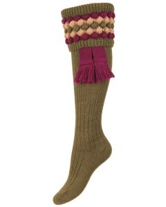 The Lady Angus Shooting Sock, Dark Olive