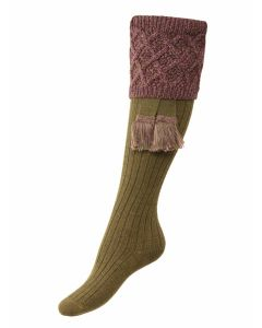 The Lady Forres Shooting Sock - Dark Olive