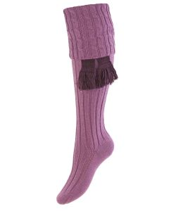 The Lady Harris Shooting Sock - New Lilac