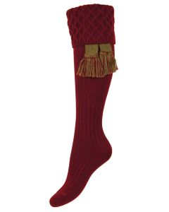 The Lady Rannoch Burgundy Shooting Sock