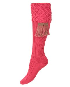 The Lady Rannoch Dusky Pink  Shooting Sock