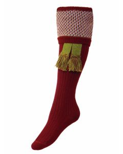 The Lady Tayside Shooting Sock - Burgundy