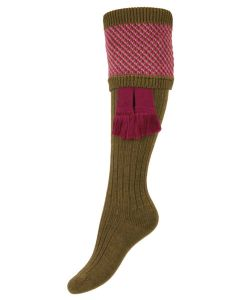 The Lady Tayside 'Dark Olive' Shooting Sock