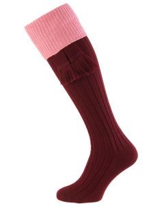 Burgundy with Rosewater Lomond Shooting Sock