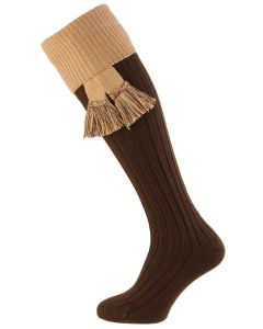 Dark Natural & Camel, Lomond Wool Shooting Sock