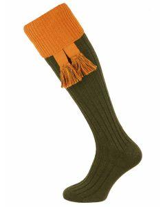 The Lomond 'Spruce & Ochre' Shooting Sock