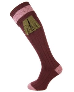 The Marlbrook Grape & Heather Merino Shooting Sock