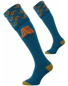 The Norfolk Merino Wool Shooting Sock - Hummingbird