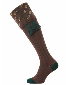 The Norfolk Merino Wool Shooting Sock - Mocha