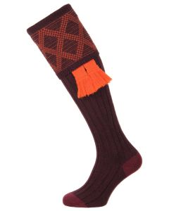 The Pennine Burlington Plum Shooting Sock