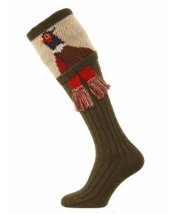 The Pheasant Shooting Sock - Spruce