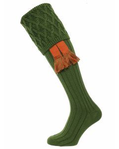The Rannoch Shooting Sock - Ivy Green