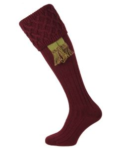 The Rannoch Shooting Stocking, Burgundy