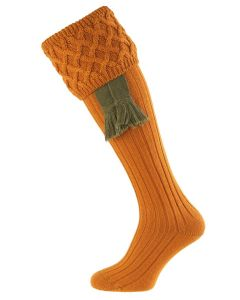 Ochre Gold Rannoch Shooting Sock from House of Cheviot