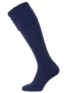 The Skye Cashmere Shooting Sock - Admiral