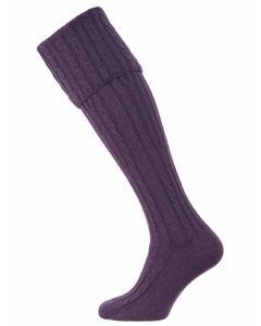The Skye Cashmere Shooting Sock - Amestista