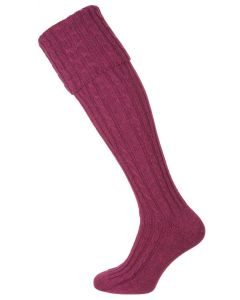 The Skye Cashmere Shooting Sock, Sloe
