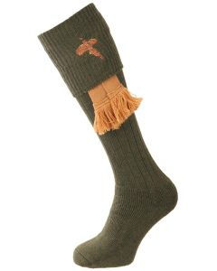 The Stalker Cushion Foot Shooting Sock - Olive Pheasant