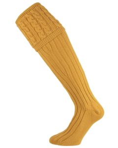 The Mayfair Cashmere Shooting Sock - Mango
