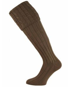 The Moreton Cotton Cable Shooting Sock - Camouflage