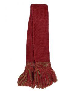 Merino Wool Two Tone Garter - Brick Red & Moss