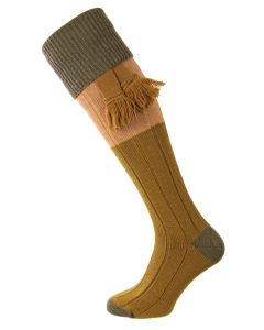 The Kirkby Shooting Sock - Olive