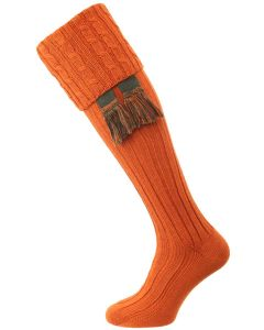 The Harris Cable Shooting Sock, Burnt Orange