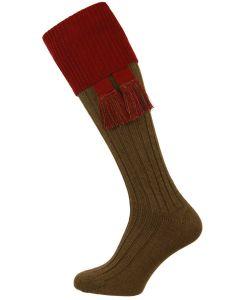 The Lomond Spruce & Burgundy Shooting Sock