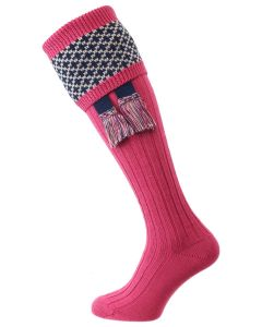 The Whitley Shooting Sock with Garter, Calla Pink
