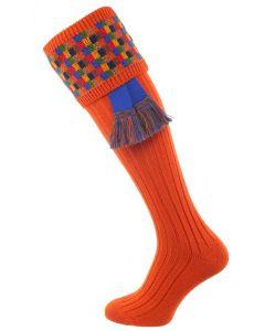 The Ashton Shooting Sock with Garter - Nasturtium