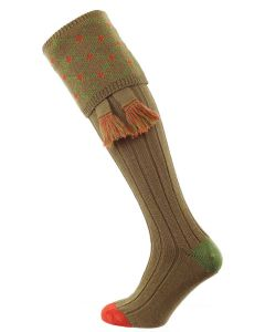 The Regent Merino Shooting Sock, Nutmeg