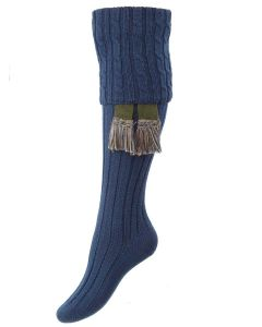 The Lady Harris Shooting Sock, Cornflower
