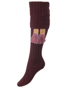 The Lady Harris Shooting Sock, Maroon