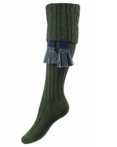 The Lady Harris Shooting Sock, Spruce