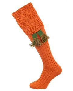 The Rannoch Shooting Sock, Burnt Orange