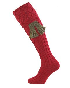 Cherry Marl, Buxton - Fine Merino Shooting Sock